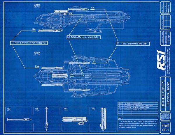 Star Citizen Aurora Blueprint