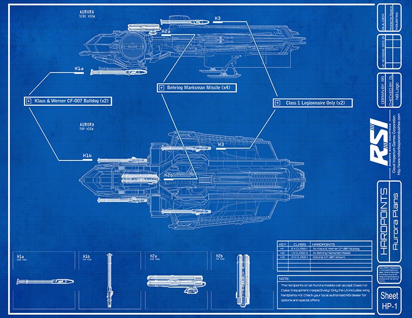 Star Citizen Aurora Blueprint