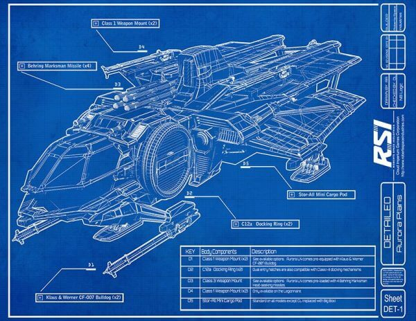 RSI Aurora blueprint from the brochure