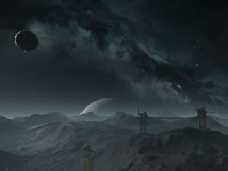 A screenshot of the surface of Delamar in Star Citizen