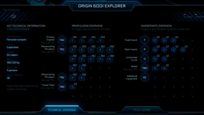 Star Citizen <i>Origin 600i</i> Explorer Stats