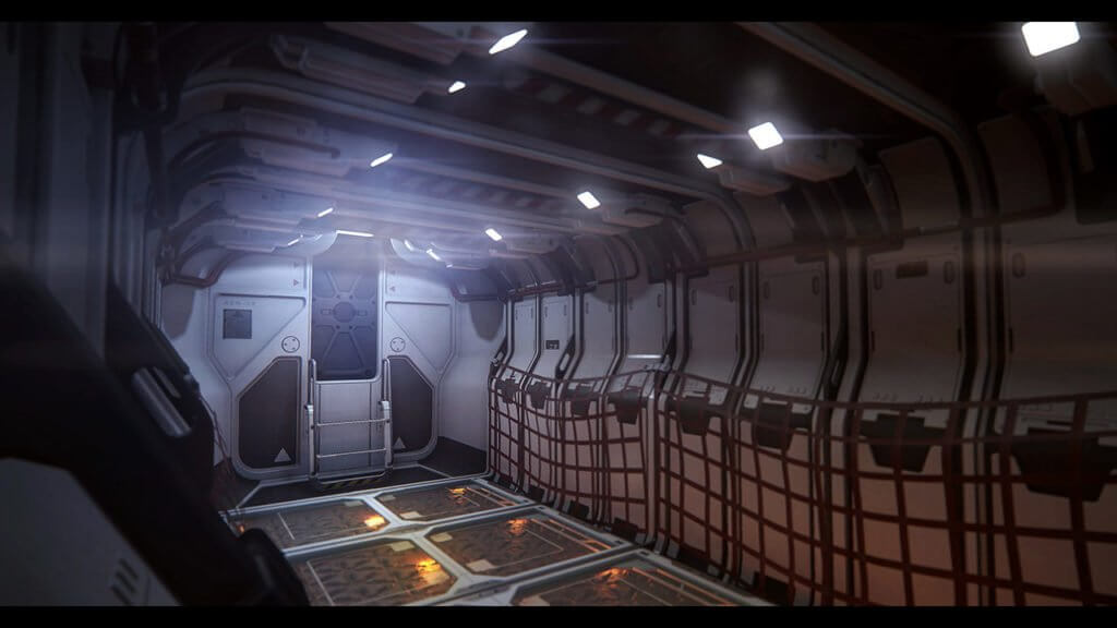 Star Citizen Avenger Titan cargo area.