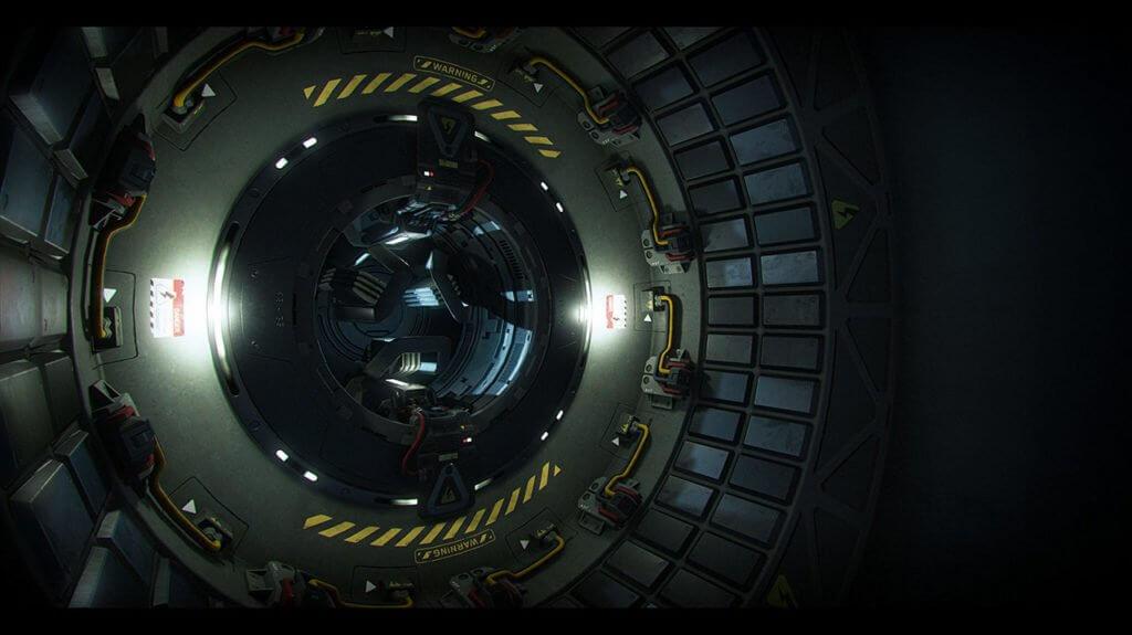 Star Citizen Avenger Warlock cargo area.