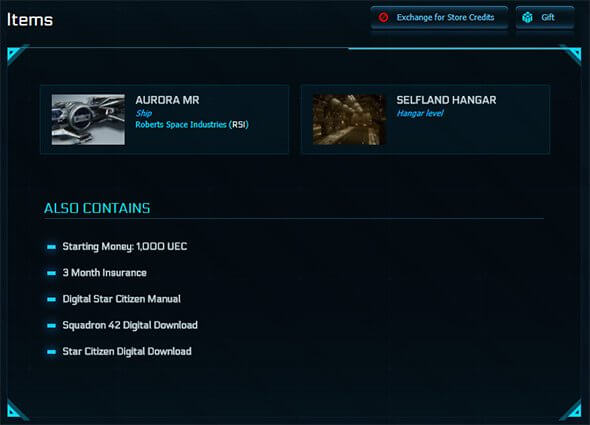 Star Citizen Aurora Giveaway
