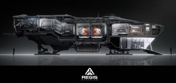 AEGIS Vulcan Exterior Cutaway