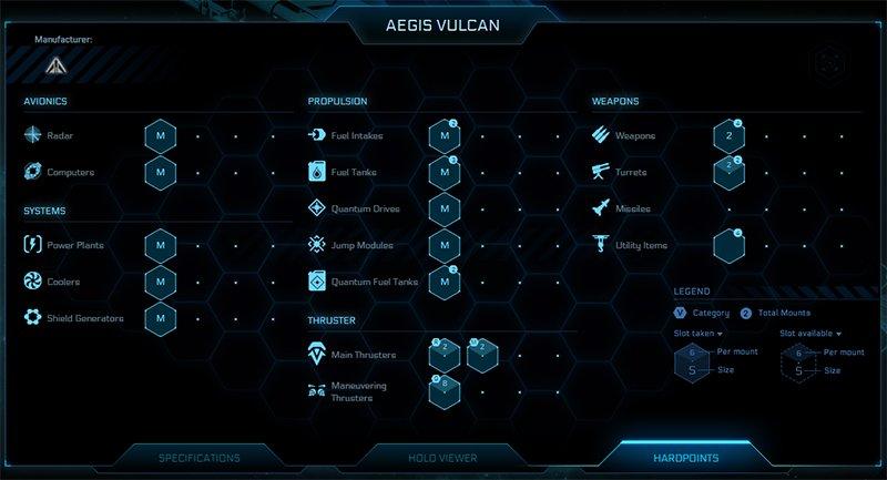 Vulcan Ship Stats 2